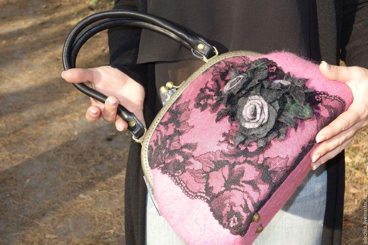 """Купить Сумка """"Черный флокс"""" - цветочный, сумка ручной работы, сумка, сумка женская"""
