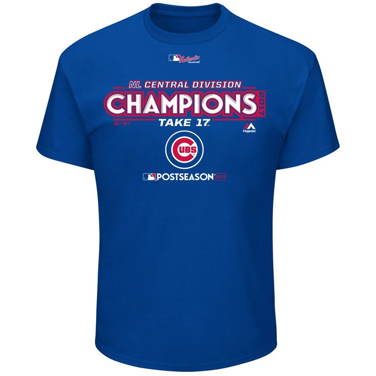 Chicago Cubs 2017 Division Champions Locker Room T-Shirt by Majestic at SportsWorldChicago.com  #chicagocubs #Cubs #mlb #flythew