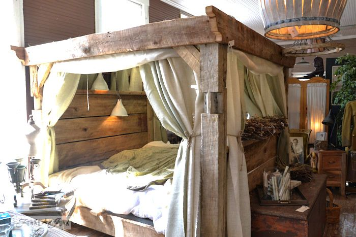4 Poster Wood Bed Part - 36: 6 - An Explosion Of Lucketts Junk... With A Linkup. Reclaimed Wood Beds4  Poster ...