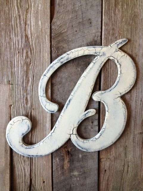 210Wedding Wooden Letter B Door Hanger by RKDragonfly on ...