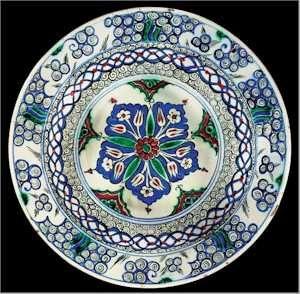 Iznik Tile and Plates A Fine Iznik Polychrome Dish Tile Circa 1575 Lot 168