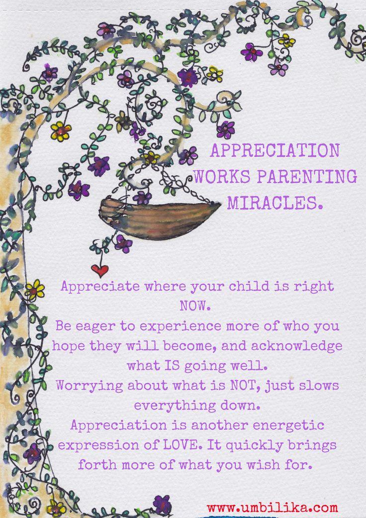 Appreciation as a parenitng tool