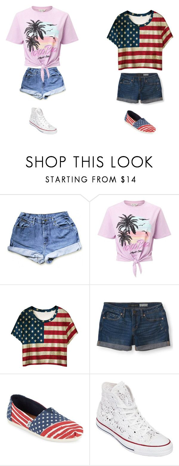 """""""UnTiTLeD #60"""" by katie-lovebug on Polyvore featuring Miss Selfridge, WithChic, Aéropostale, TOMS and Converse"""