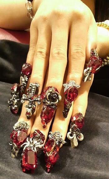 218 best nail artgothic images on pinterest gothic nail art gothic nail art bing images prinsesfo Image collections