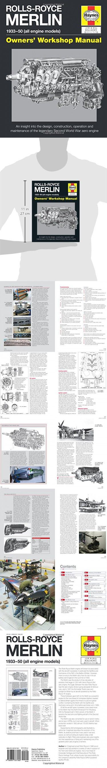 Rolls-Royce Merlin Manual - 1933-50 (all engine models): An insight into the design, construction, operation and maintenance of the legendary World War 2 aero engine (Owners' Workshop Manual)