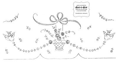 vintage embroidery pattern.