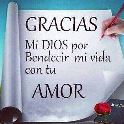 Gracias Dios por El amor