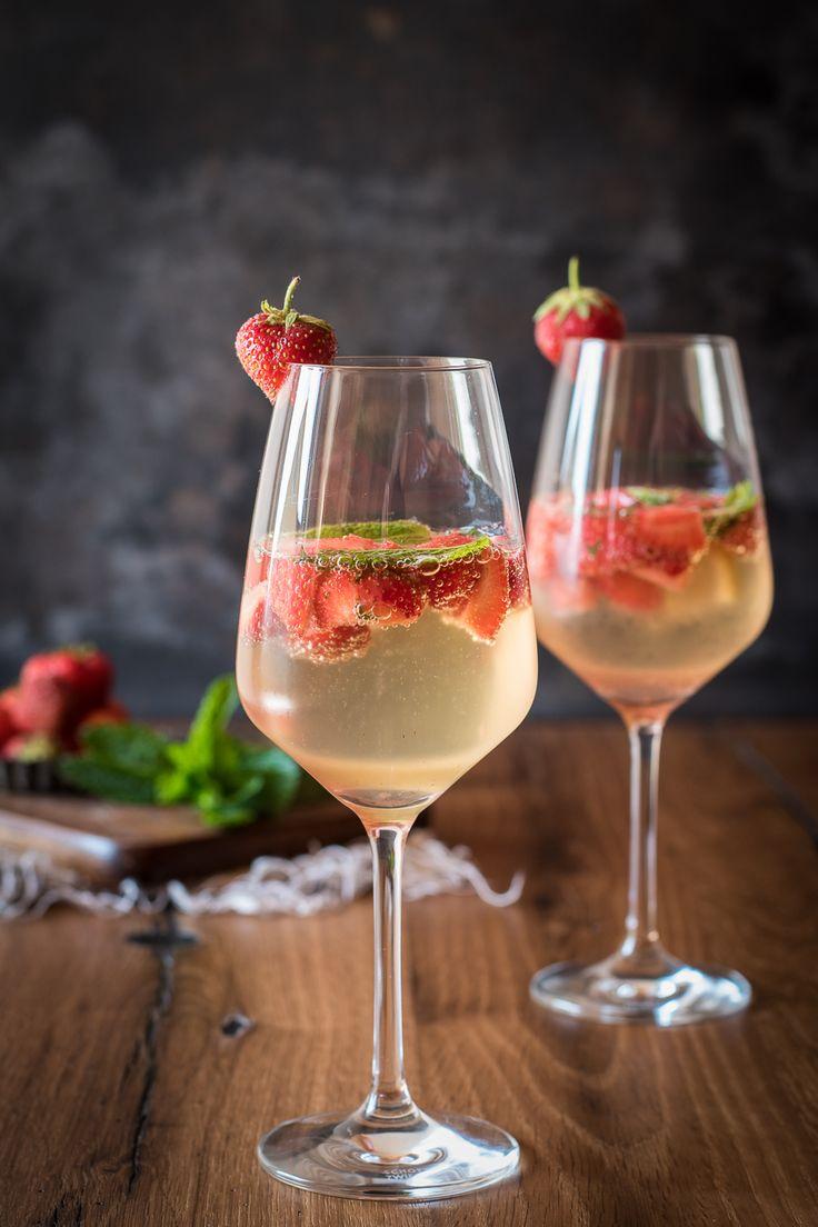 Erfrischende Erdbeer-Bowle