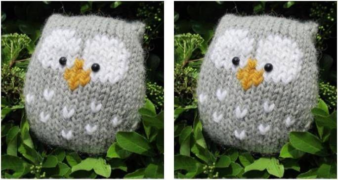 Adorably Stuffy Knitted Owl [FREE Knitting Pattern]