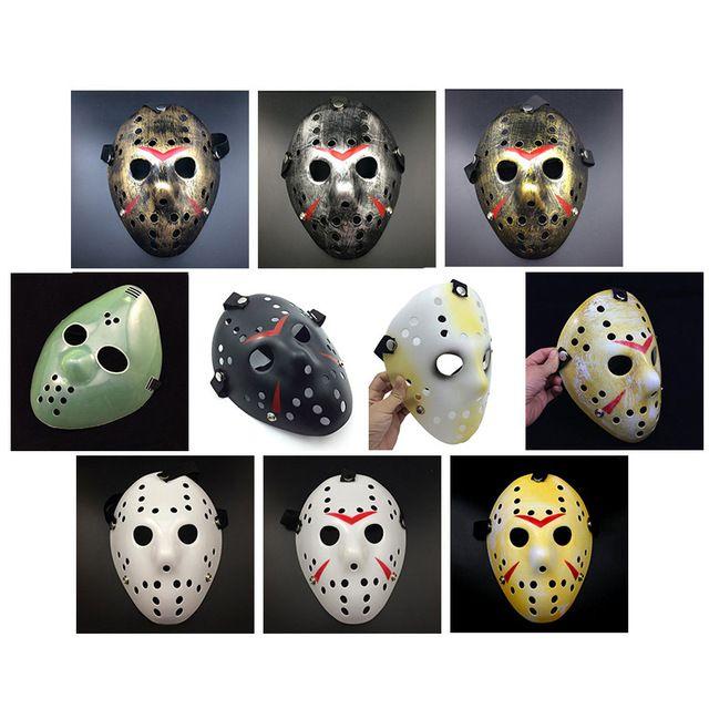 Oro Vintage Delicated Máscaras Del Partido Jason Voorhees Freddy Festival de Hockey de Halloween Mascarada Máscara de Envío Libre