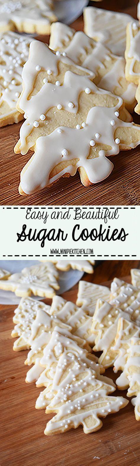 Easy Sugar and Royal Icing Cookies #sugarcookies #treecookies #easytomake
