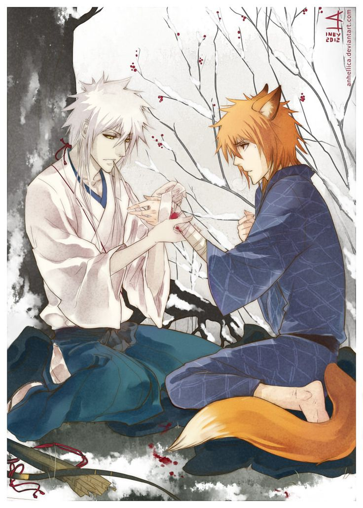 "AU, hunter and kitsune ""No one can do for you what only"