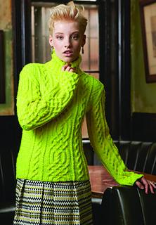 #14 Cabled Turtleneck by Melissa Leapman, Vogue Knitting December 2012
