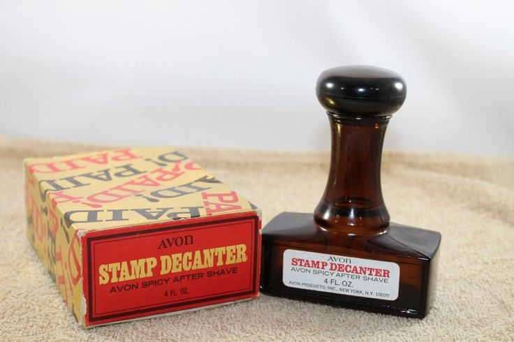 Avon 'Paid Stamp' choice of Spicy or Windjammer After Shave ~ available 1970-1971