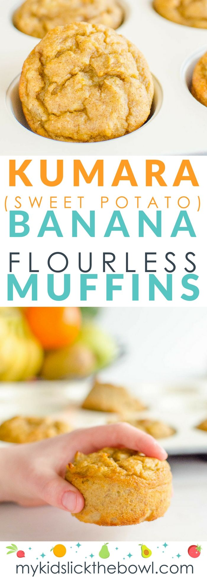 Kumara (Sweet Potato) Banana Muffins
