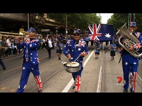 Australia Day celebrated in Victoria - YouTube