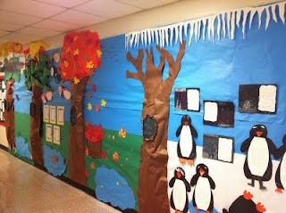 4 seasons display: Photos, Classroom Decor, Schools, Four Seasons, Bulletin Boards, Lessons Plans, Seasons Display, Wall Display, 1St Grade