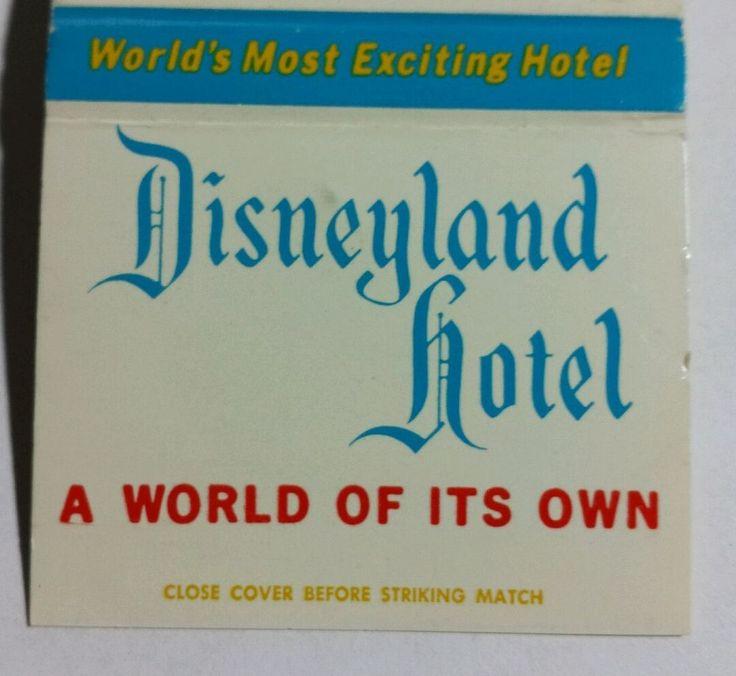 Disneyland Hotel Anaheim CA Monorail Matchcover