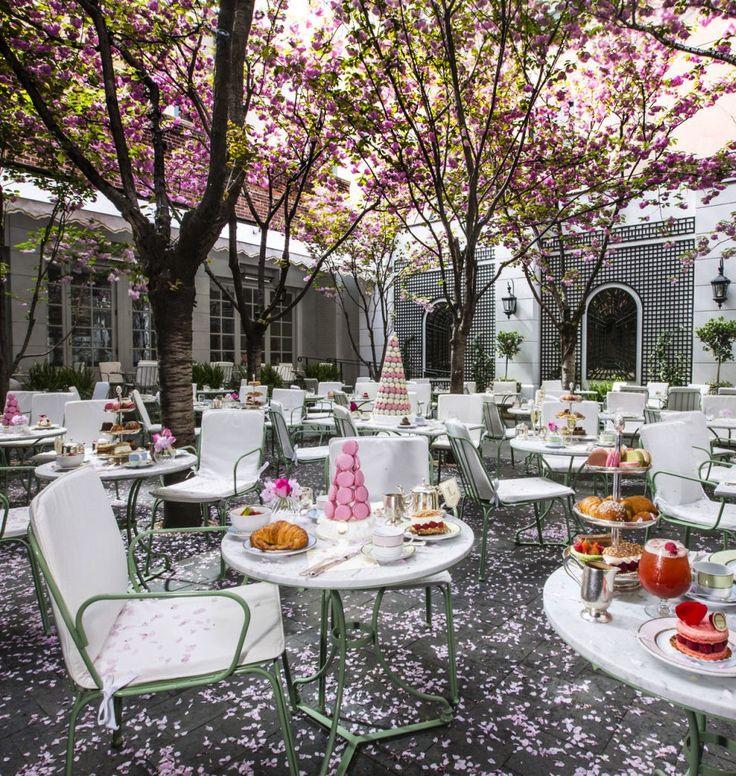 Our favorite al fresco restaurants across the globe: Laduree, New York. See more of our best garden dining picks here.