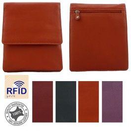 Genuine Leather Womens Cross Body Sling Bag Handbag Stylish RFID Protected Multi Colours MW-02M