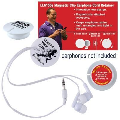 Magnetic Clip Earphone Cord Retainer | Creative Promotions