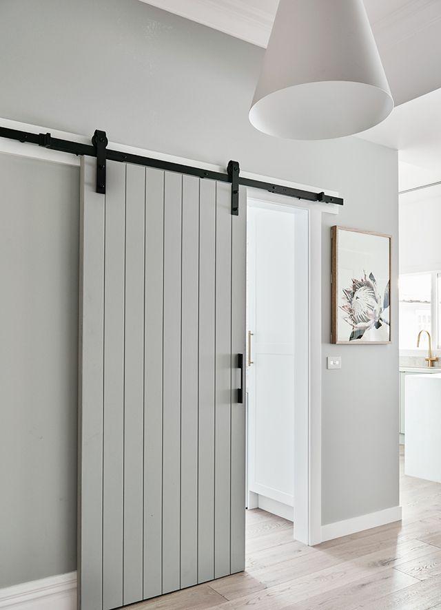 T D C A Beautiful Nordic Inspired Family Home Renovation By Norsu Modern Barn Door Small Hallways Diy Sliding Barn Door
