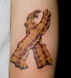 ahh the love of bacon. This site has about a dozen foodie tattoos to check out