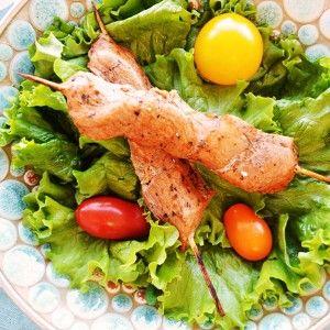 Brochettes de porc souvlaki Les trois Chefs