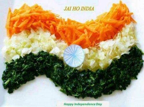 Happy independence day foods wallpapers color vegetables for 15 aug decoration