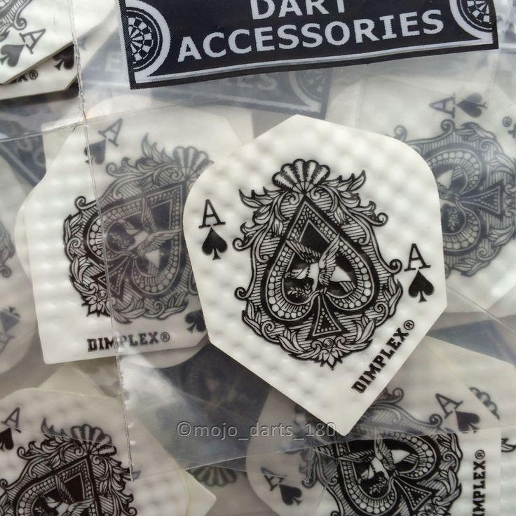 5 sets of Dimplex DART FLIGHTS Harrows STANDARD SHAPE Ace of Spades