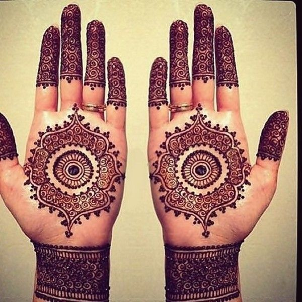 Round Mehndi Designs For Hands