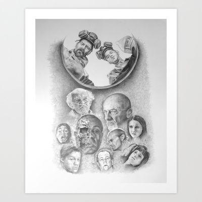 Breaking Bad Coin Flip Art Print by Heather Andrewski - $28.08