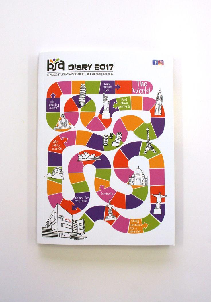 Bendigo Student Association Diary – Print Production
