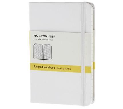 Notebook - Pocket - Squared - White - Hard - Moleskine ®