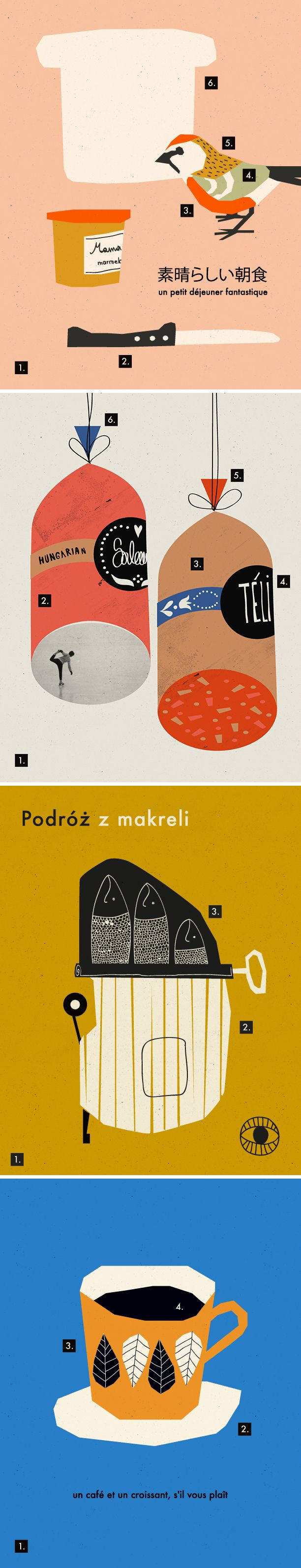 Anna Kövecses, illustration, design, layer, paper cut, screenprint, printmaking, drawing, bird, colour, collage