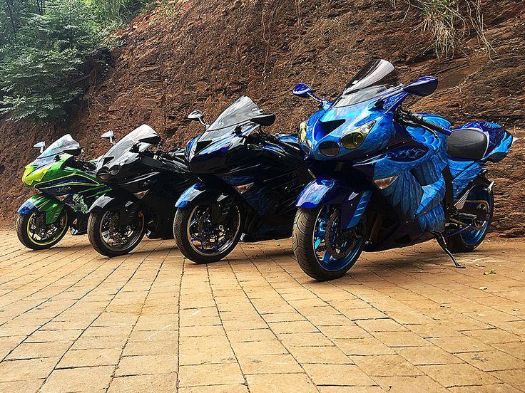 Kawasaki ZX1400 Squad. Four bikes same workshop. All customised by PAZ.