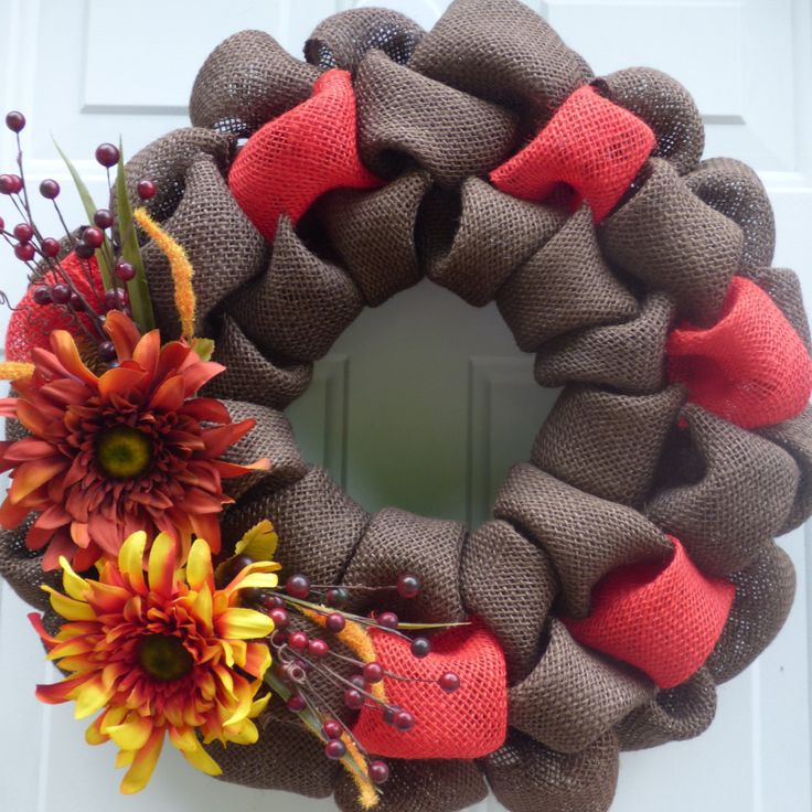 Fall Burlap Wreath/Fall Front Door Wreath/Fall Door Wreath/Autumn Wreath/Fall Wreath/Wreath for Fall/Fall Door Decor/Thanksgiving Wreath by OneofaKindWreath on Etsy
