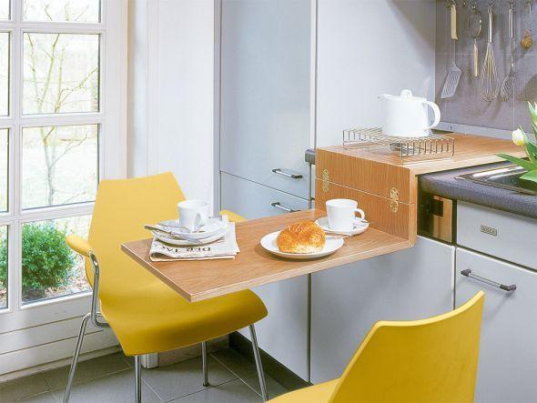 Klapptisch für küche  29 Elegante Küchen Klapptisch | Küchen Ideen