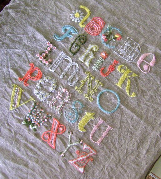 vintagejunky.blogspotAlphabet Sampler, Baby Girl Rooms, Embroidery Alphabet, Alicia Paulson, Embroidery Projects, Crewel Embroidery, Vintagejunky Blogspot Com, Baby Girls, Embroidery Artists