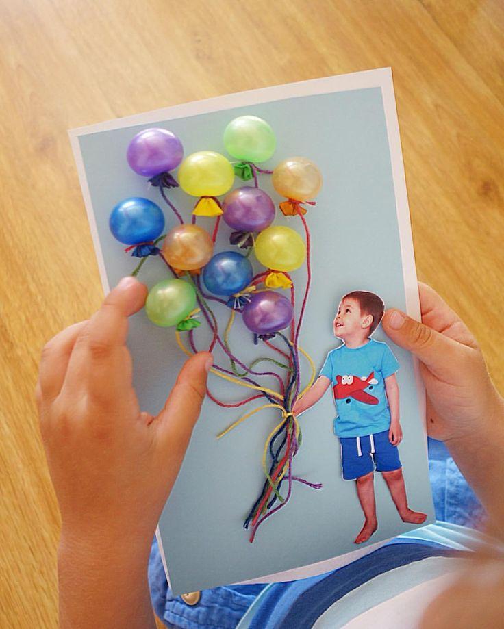 Воздушная открытка из шариков, картинки