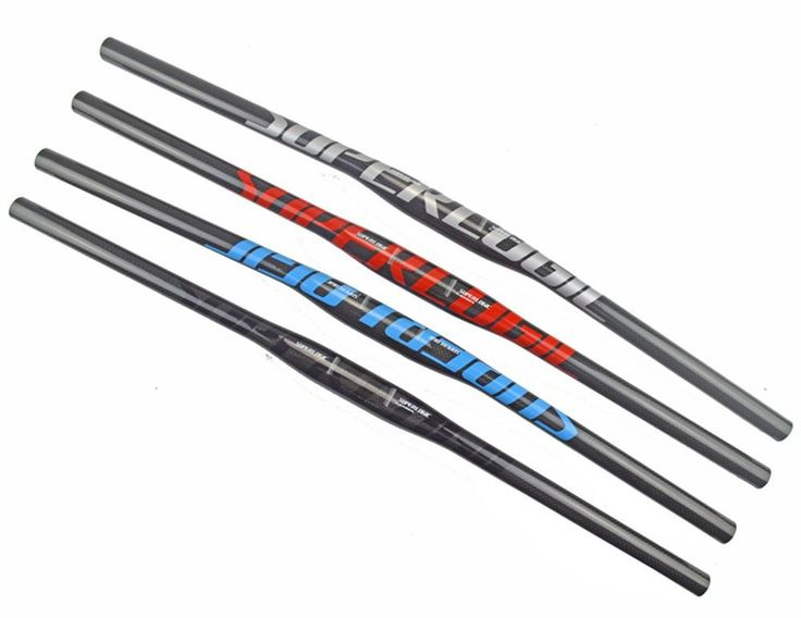 [Visit to Buy] New superlogic Mountain bike 3K full carbon handlebar Flat carbon bicycle handlebar MTB parts 31.8*600/620/640/660/680/700/720mm #Advertisement
