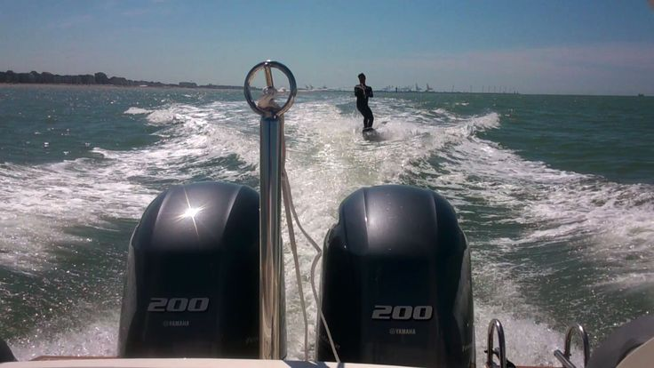 Fun with the wakeboard  www.knokkeboatrental.be