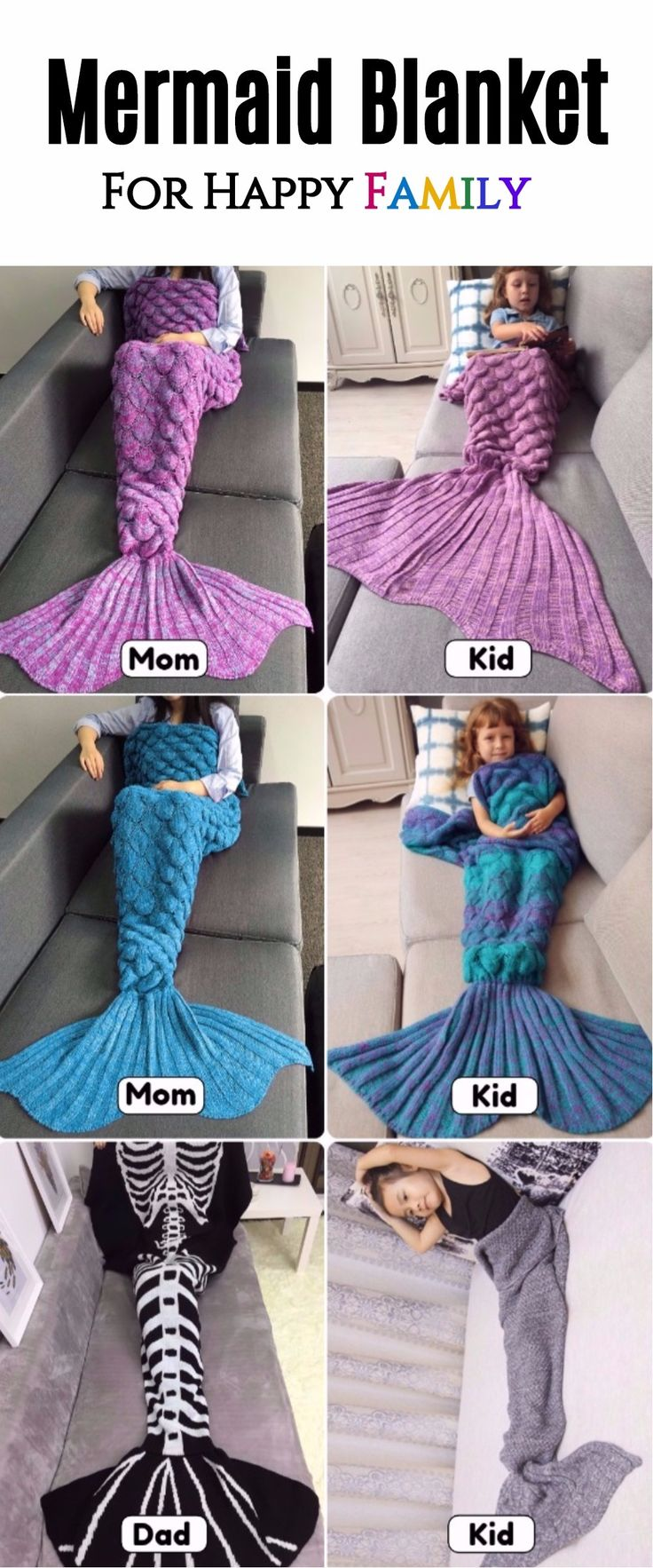 #FreeShipping #Mermaid #Blanket #ForFamily Start From $5 | Up To 75% OFF | Sammydress.com