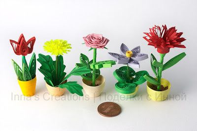 Flower pots (quilling)