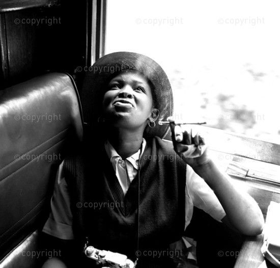 Baileys African History Archive - Preview (Photograph by Bob Gosani © Baileys Archive) neg 597 Dolly Rathebe smoking