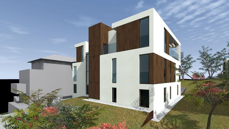 Madárhegy - Facsemete project designed by 4D Architects modern minimal architecture residential wood facade