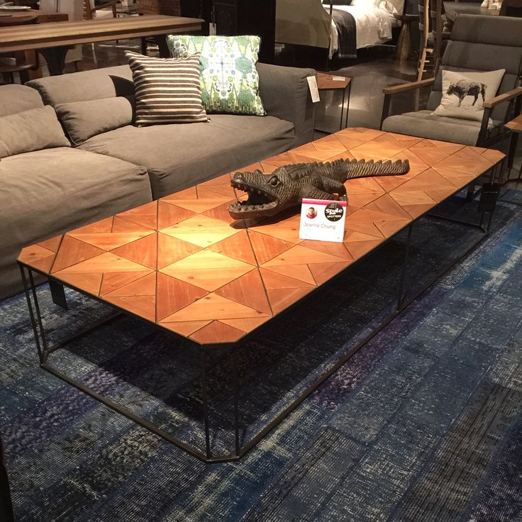 The Bronson Coffee Table From Four Hands Modern Geometry