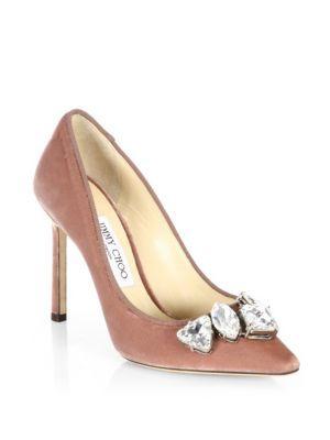 b6ba3c111059 JIMMY CHOO Marvel 85 Embellished Velvet Pumps.  jimmychoo  shoes  pumps