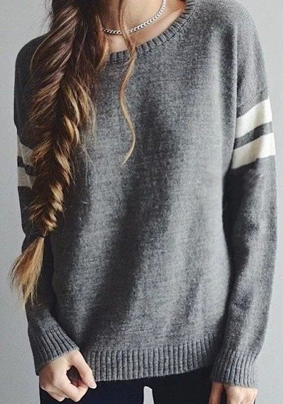 Grey Plain Tassel Irregular Honey Girl Cardigan Sweater