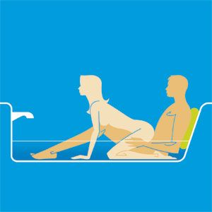 sex positions in a bath tub